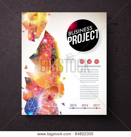 Corporate Identity Template with Abstract Design