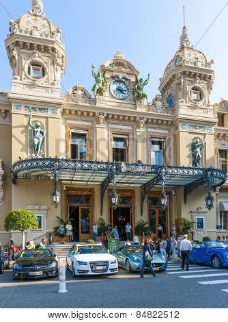 MONTE CARLO, MONACO - OCTOBER 3, 2014: Entrance to Monte Carlo Casino in Monaco