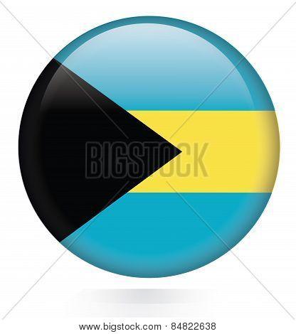 Bahamas Flag button