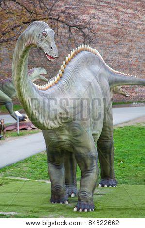 Dinosaur In Life-size at Kalemegdan fortress in Belgrade