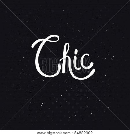 Chic Text on Dotted Abstract Black Background