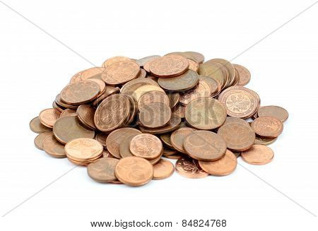 Euro Cents - Isolated On White