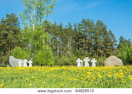 German Prisoners Of War Cemetery In The City Lezhnevo Ivanovo Re