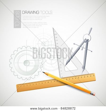 Vector illustration with drawing tools