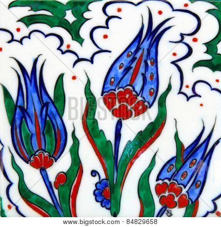 Ottoman Style Tulip Background