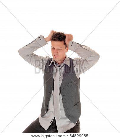 Man Scratching His Head.