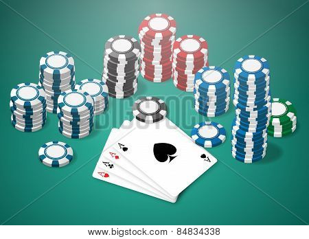 Poker scene table