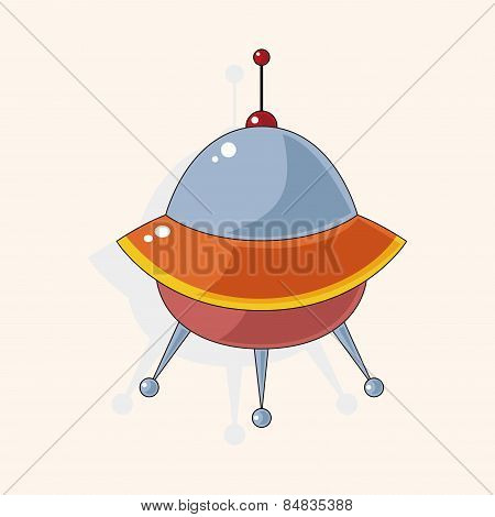 Space Ufo Theme Elements Vector, Eps