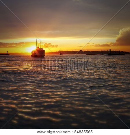 The Sunset View Of Istanbul