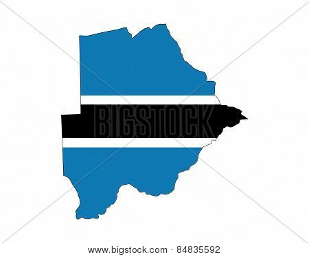 Botswana Flag Map