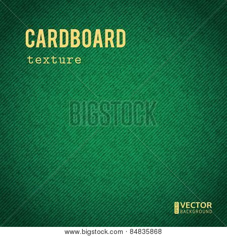 Cardboard green stained vector background