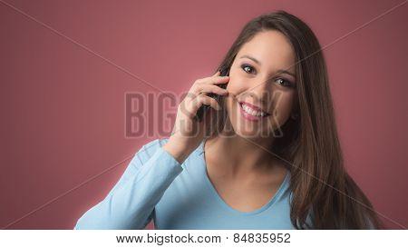 Cute Girl On The Phone