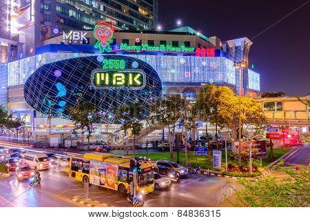 Mbk's Shopping Mall At Night