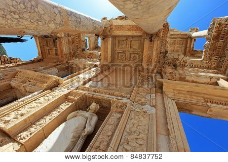 Library Of Celsus, Ruins Of Ancient City Ephesus, Turkey
