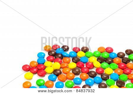 Pile Of Colorful Chocolate Candy