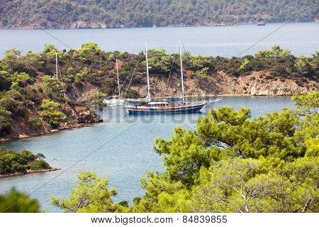 Sailboats In Gocek,turkey