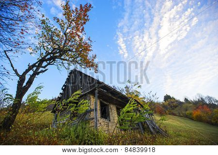 Ruins Of A House In Middle Of Nowhere