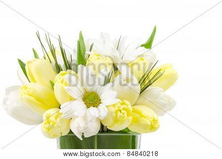 Small Flower Arrangement on White