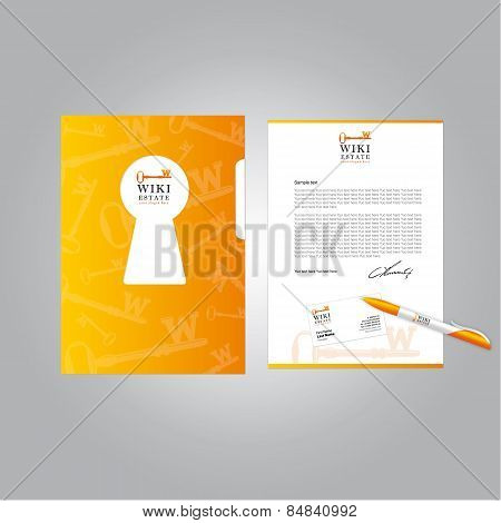 Corporate identity template wiki real estate