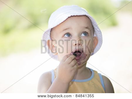 Child Eating Mulberries