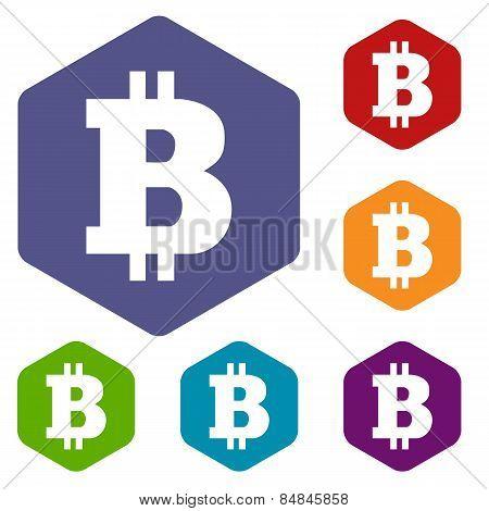 Bitcoin rhombus icons