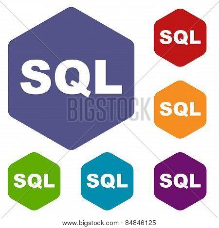 SQL rhombus icons
