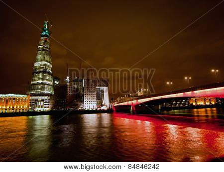 LONDON, ENGLAND FEB 13:The Shard will be the tallest European building when completed taken on Feb 13, 2012 in London, United Kingdom.