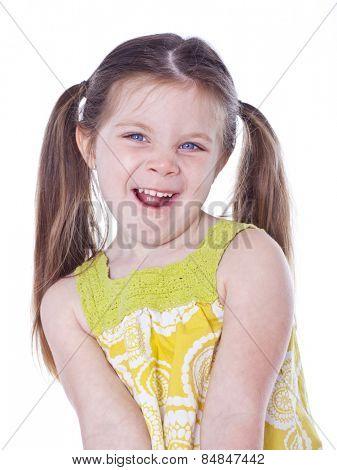 Pretty girl close-up studio portrait