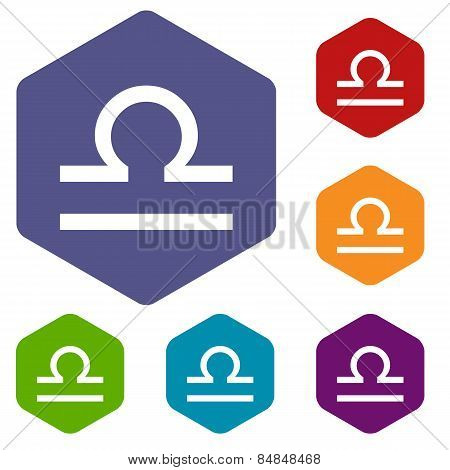 Libra rhombus icons