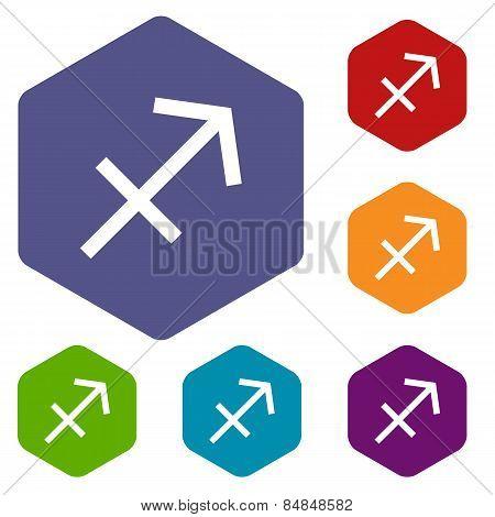 Sagittarius rhombus icons