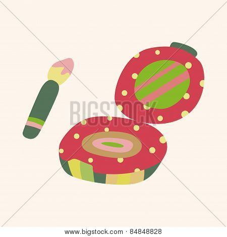 Eye Liner And Eyeshadow Theme Elements Vector,eps