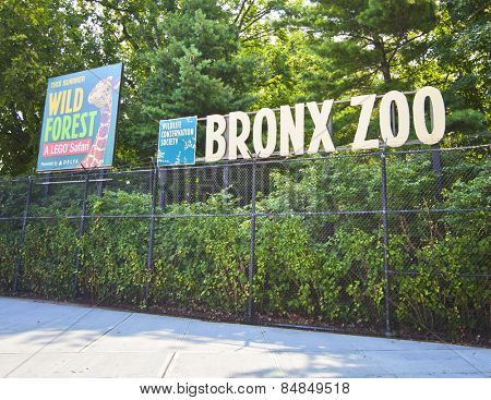 NEW YORK CITY - Aug 5: Famous Bronx Zoo is one of the biggest metropolitan zoos in the world with over 4,000 animals on August 5, 2012 in Manhattan, New York City.