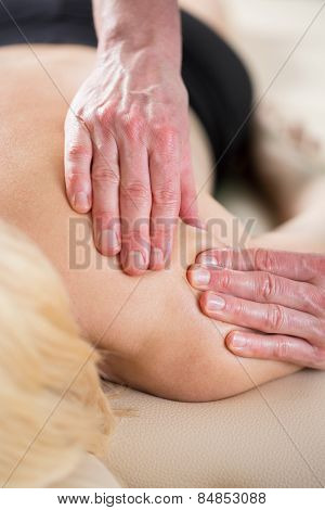 Physiotherapist Treating Soft Tissues