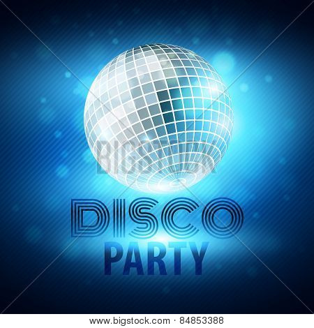 Disco party. Vector illustration