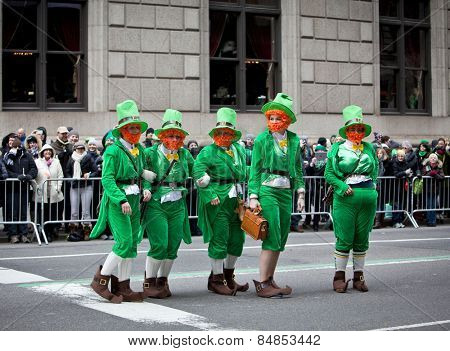 NEW YORK, NY, USA - MAR 17: St. Patrick's Day Parade on March 17, 2013 in New York City, United States.