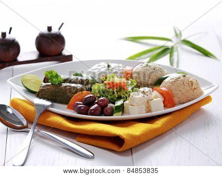 Greek Vegetarian Food Mix Pikilia