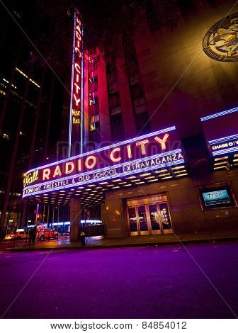 NEW YORK, USA - JUNE 28th 2014: Radio City Music Hall in Rockefeller Center is home of the Rockettes and the famous Christmas Spectacular