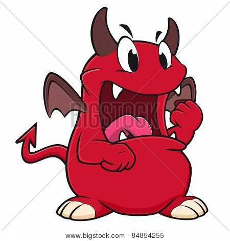Cartoon Angry Devil