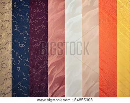 Series Of Vertical Colored Blinds