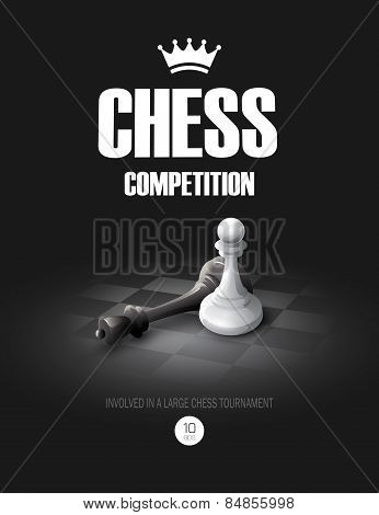 Winning Chess concept. Vector background