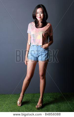 Fashion Shoot Of Young Woman Posing