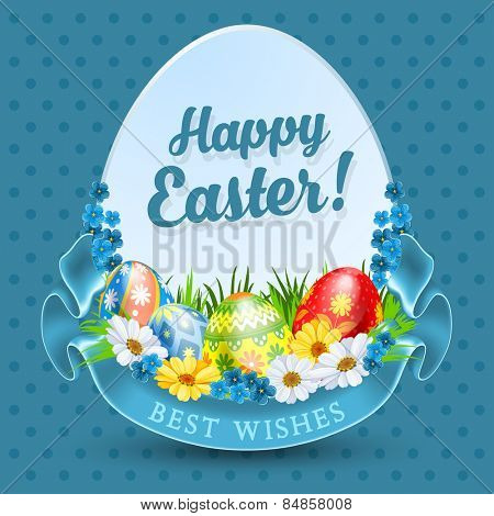 Easter background for advertising, sale or greeting card
