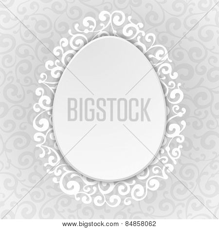 Elegant background for easter greeting with luxury decor