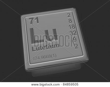 Lutetium. Chemical element. 3d