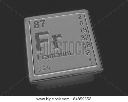 Francium. Chemical element. 3d