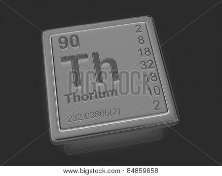 Thorium. Chemical element. 3d