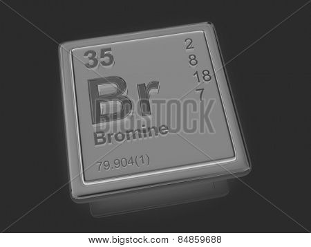 Bromine. Chemical element. 3d