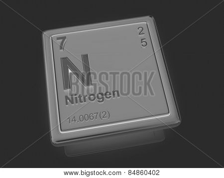 Nitrogen. Chemical element. 3d