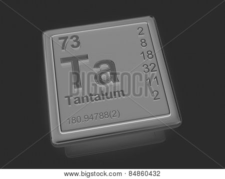 Tantalum. Chemical element. 3d