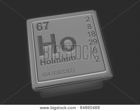 Holmium. Chemical element. 3d